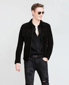 Zara - men's fringed jacket