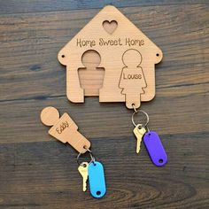 Always losing your keys?  We have the solution!   http://prettypersonalised.co.uk/family-keyring-hanger-hooks-for-keys-housewarming-new-home-wooden-keyrings-gift.html