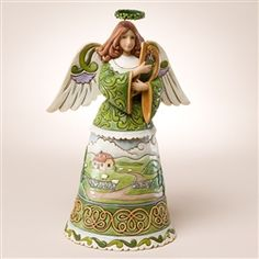 Jim Shore IRISH ANGEL PEACE AND PLENTY Heartwood Creek Figurine