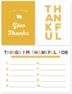 Giving Thanks Journaling and Filler Cards for Thanksgiving   Free printable cards to help you document the moments you're most grateful for!
