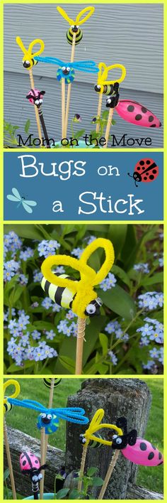Bugs on a Stick Craft - Mom on the Move