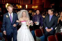 A walk down the aisle at the Campus Theatre