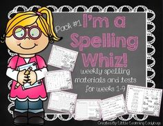 I'm a Spelling Whiz! - 9 Weeks of Spelling Materials and Tests {Pack 1} Kindergarten & First Grade Spelling Lists