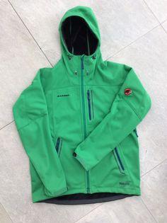e6f368187f0cf9 Supertolle Mammut Windstopper Softshell Jacke mit Kapuze grün / Gr. L / TOP  Zustand