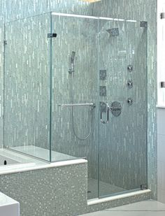 The Majestic Series offers the only truly frameless enclosure in the industry. Frameless Shower Enclosures, Frameless Shower Doors, Custom Shower Doors, Master Bath Shower, Bathroom Vanity Designs, Modern Shower, Upstairs Bathrooms, Custom Glass, Door Handles