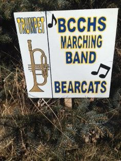 BCCHS Band personalized yard sign for your child. by signladybiz