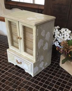 Upcycled Vintage Hand Painted Musical Jewelry Box // Reclaimed Reconditioned Jewelry Chest with Music Box by ByeByBirdieDesigns on Etsy https://www.etsy.com/listing/242150509/upcycled-vintage-hand-painted-musical