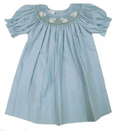 So sweet...has boys to match. Blue Smocked Lambs Dress