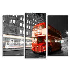 Купить Модульные картины London Bus: цена, фото, на заказ