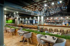 Restaurant Murakami, London by Seventh Studio #restauraunt #interior #seventh #design #architecture #cafe #loft #food
