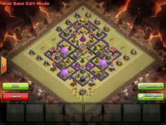Clash of Clans Town Hall 8 War Base AllClash Featured