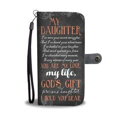 Christian christmas gift ideas - Thiss My daughter is God's gift wallet phone case is a perfect christmas gift for your friends, family and your loved one! Bible Verses About Strength, Quotes About Strength In Hard Times, Bible Verses About Love, Quotes About God, Prayer Verses, Prayer Quotes, Bible Verses Quotes, Encouragement Quotes, Faith Prayer