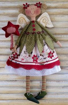 cute little fairy - use hankies and instead of christmas - they could be year round: spring fairies, summer fairies...