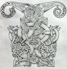 Viking and Oseberg influenced knotwork design by Tattoo-Design.deviantart.com on @deviantART