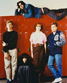 The Breakfast Club Color Poster Or Photo Locker Room Pose Ally Sheedy