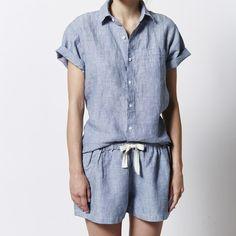Short Sleeve Shirt in Blue
