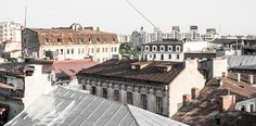 Great Morning in Old City of Bucharest, Romania - great office view