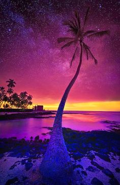 Dusk in The Big Island of Hawaii, United States