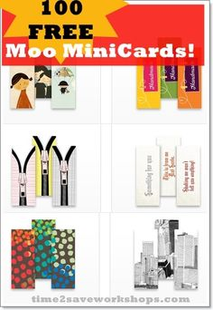 100 FREE Moo Mini Cards - great for stylish lunchbox notes!!  (Today Only)