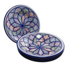 Pasta/Salad Bowls (Set of 4) – Blanqa Design, by Le Souk Ceramique