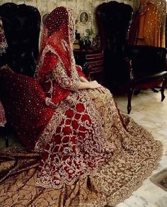 Red is best for the big day! Asian Wedding Dress, Pakistani Wedding Outfits, Asian Bridal, Pakistani Wedding Dresses, Bridal Outfits, Indian Dresses, Eid Outfits, Eid Dresses, Bridal Lehenga