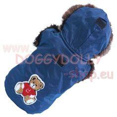 DoggyDolly Blauer Eskimo Hunde - Anorak - Dieser wunderschöne warme Hundeanorak in sattem blau von DoggyDollyist genau das richtige für eiskalte Tage.Der Hundemantel Eskimo blau sieht nicht nur super süß aus mit dem Pelz an Kapuze und ... Anorak, Eskimo, Super, Fur, Cowl