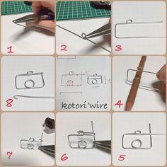 My Desk/ワイヤークラフト/ダイソーのワイヤー使用/かんたん講座/minneの梱包に使ってます/ミニワイヤーカメラの作り方...などのインテリア実例 - 2017-11-27 16:20:35 RoomClip (ルームクリップ)
