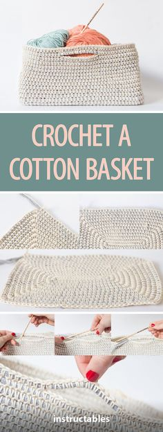 Crochet a Cotton Basket