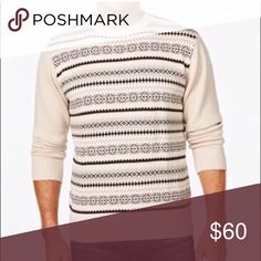 Classic fit sweater Product Details Solid long sleeves make the Fair Isle pattern on this Weatherproof Vintage sweater really pop. Crew neck Fair Isle pattern Machine washable 1.31 Sweaters