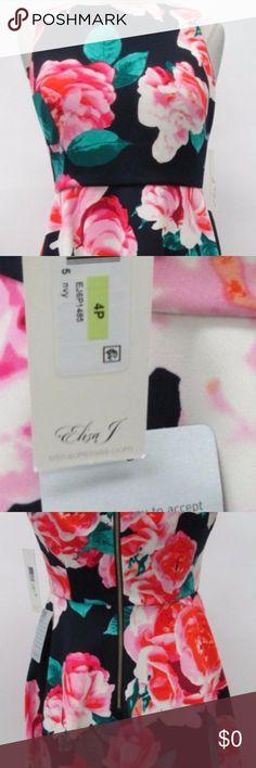 Brand NWT Eliza J. Flower dress size 4P Beautiful Eliza J. flower dress size 4P brand new with tags Eliza J Dresses Midi