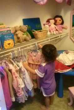 Hmmmm.What should I wear? Toddler closet and playroom
