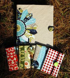 Notebook covers for composition books. Nice tutorial. Nice gift.