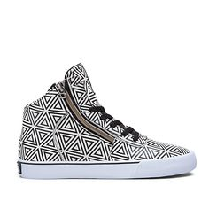 SUPRA WOMENS CUTTLER | WHITE/PATTERN | Official SUPRA Footwear Site