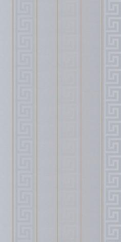 Greek Key Stripe by Versace - Silver - Wallpaper : Wallpaper Direct Versace Wallpaper, Kate Spade Wallpaper, Silver Wallpaper, Luxury Wallpaper, Striped Wallpaper Design, Designer Wallpaper, Apple Logo Wallpaper Iphone, Apple Wallpaper, Art Deco Artwork