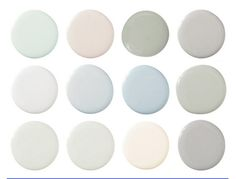 Swedish Paint Colors: 1. F&B Pavillion Blue 252, 2) Sherwin-Wms. Only Natural SW 7596, 3) F&B Blue Gray 91, 4) C2 Paint Pavement C2-988, 5) DKC-67, 6) F&B Skylight 205, 7) SW Sleepy Blue 6225, 8) SW Sensible Hue 6198, 9) DKC-6, 10) F&B Pavilion Gray 242, 11) Pratt & Lambert Milk White 15-32, 12) F&B Lamp Room Gray 88