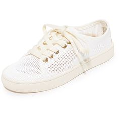 Soludos Mesh Lace Up Sneakers (108 AUD) ❤ liked on Polyvore featuring shoes, sneakers, white, mesh sneakers, lightweight sneakers, lace up sneakers, laced sneakers and white sneakers