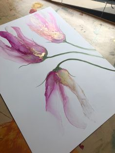 Pink floral painting in alcohol inks Alcohol ink art by Aesthetic Alchemy Art<br> Alcohol Ink Crafts, Alcohol Ink Painting, Alcohol Ink Art, Buy Alcohol, Acrylic Pouring Art, Acrylic Art, Watercolor And Ink, Watercolor Flowers, Pintura Graffiti