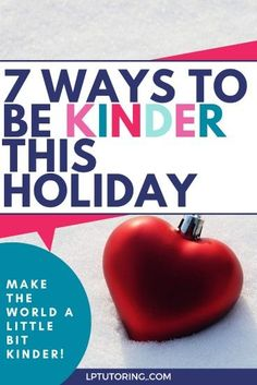 Take a break from your busy holiday schedule to help someone around you. Click through to grab easy ideas for holiday kindness. #kindness