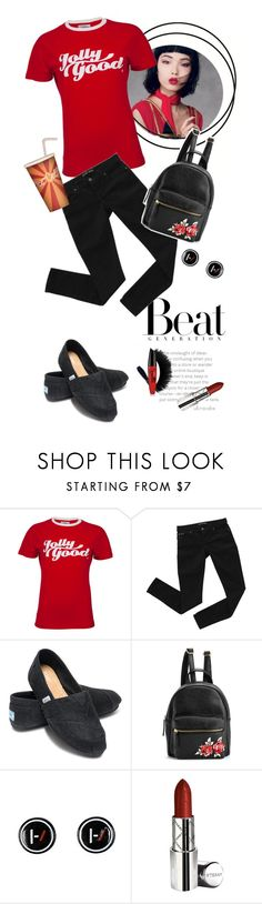 """Beat Generation"" by ultracake ❤ liked on Polyvore featuring Bardot, TOMS, Hot Topic, By Terry, fashiontrend and ultracake"