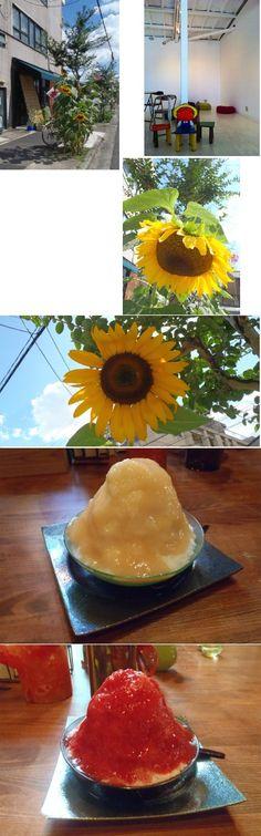 かき氷_苺と桃  Shaved ice