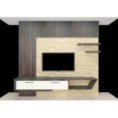 Fashionable TV Unit with absolute style and clever structure. Made up of plywood with laminate finish. Consisting drawers, wall panelling, wall shelves and wall paper. Customizing your home interior is now easy with scale inch. If you feel your home r Modern Tv Unit Designs, Modern Tv Wall Units, Wall Unit Designs, Living Room Tv Unit Designs, Wall Units For Tv, Lcd Wall Design, Lcd Unit Design, Tv Unit Furniture Design, Lcd Units
