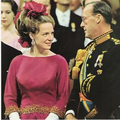Princess Irene of the Netherlands with her father, Prince Bernhard
