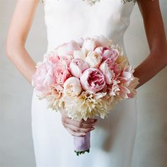 Garden Rose and Peony Bouquet (dahlias, peonies, roses)