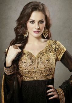 #Designer Anarkali #Black #Indian Wear #Desi Fashion #Natasha Couture #Indian Ethnic Wear
