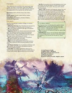 Fae Race by Dungeons And Dragons Races, Dnd Dragons, Dungeons And Dragons Homebrew, 5e Races, Create Your Own Adventure, Dungeon Master's Guide, Dnd 5e Homebrew, Fantasy Races, Fantasy Forest
