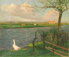 Valerius de Saedeleer (Belgian, 1867-1941), Vue de la maison de l'artiste à Latem [View of the Artist's house in Latem], 1906. Oil on canvas, 50 x 60 cm.