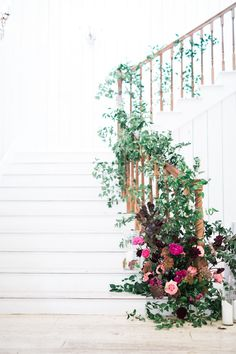 Wedding Flowers on Staircase The White Sparrow Barn Dallas Wedding Venue Pho Stairway Decorating Barn Dallas flowers Pho Sparrow Staircase Venue Wedding White Indoor Wedding, Farm Wedding, Rustic Wedding, Wedding Country, Country Weddings, Indian Weddings, Boho Wedding, Wedding Reception, Wedding Stairs