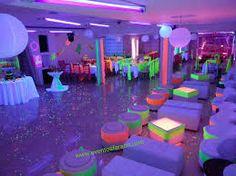Image result for decoracion fiesta de 15 años en neon