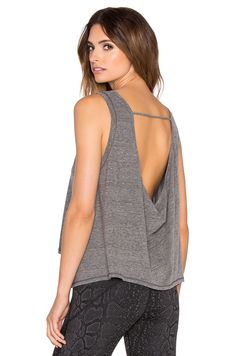 Vimmia Pacific Cowl Back Tank in Heather Grey