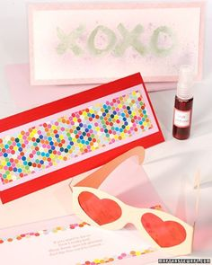 Use our templates to create heart-shaped glasses and secret messages for friends to decode.  Print the Glasses Templates